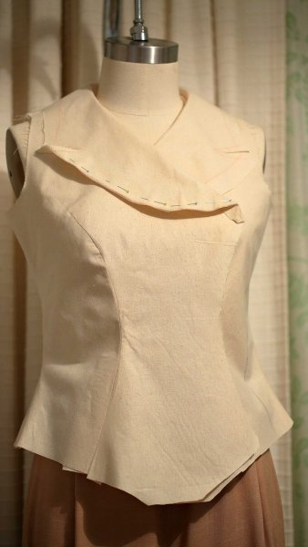 Vintage Inspired Waistcoat Toile by The Vintage Couturiere