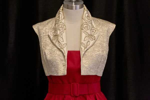 Gold Brocade Embroidered Spencer by The Vintage Couturiere