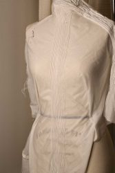 Bias Stitched Pin Tucks on Silk Cotton Voile by The Vintage Couturiere