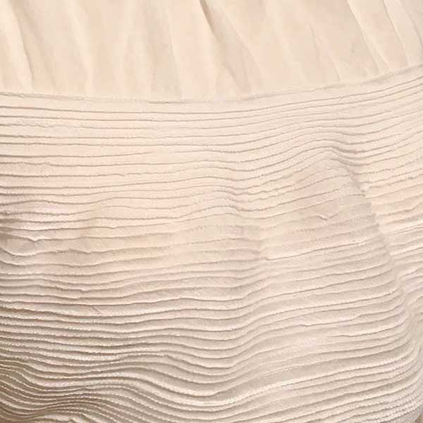 Pin Stitched Silk Cotton Voile by The Vintage Couturiere