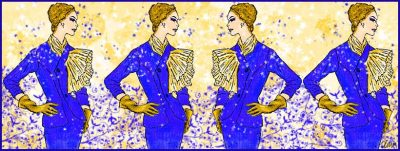 Vintage Jeanne Paquin Jacket Illustration from The Vintage Couturiere