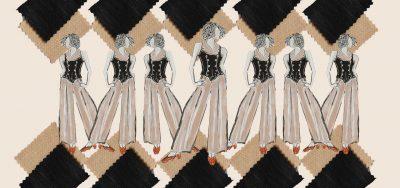 Vintage Fusion Waistcoat Pants Set Designed by The Vintage Couturiere
