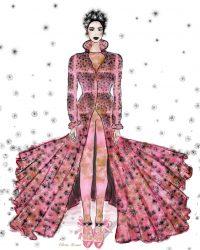 Vintage Inspired Fashion Illustration by Olivia Torma