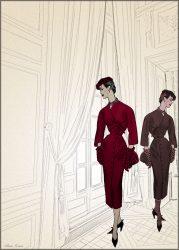 Vintage Vogue Models at Versailles
