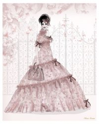 Pink Peony Silk Chiffon Gown designed by Olivia Torma